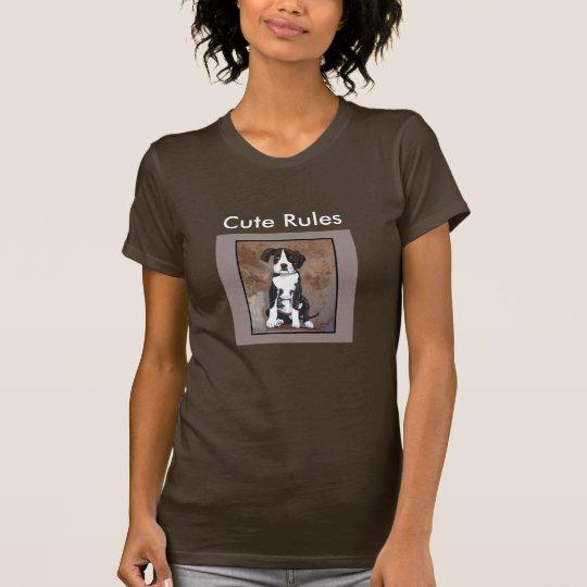 CUTE RULES Doggy Fashion Shirt for Women-