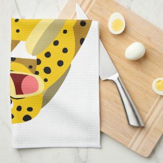Cute Running Cartoon Cheetah Kitchen Towel