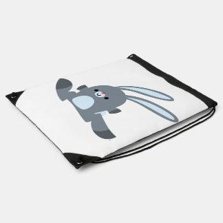 Cute Running Cartoon Rabbit Drawstring Backpack
