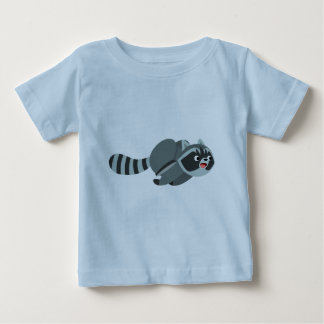 Cute Running Cartoon Raccoon Baby T-Shirt