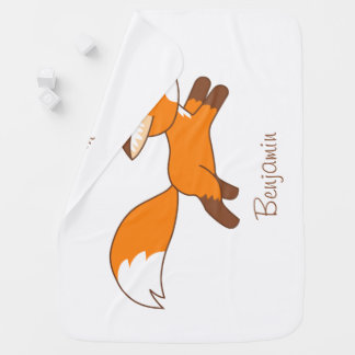 Cute Running Fox Baby Blanket