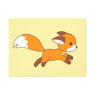 Cute Running Fox Canvas Print