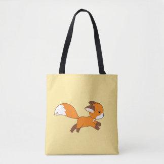 Cute Running Fox Tote Bag