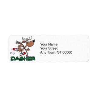 cute running reindeer DASHER cartoon