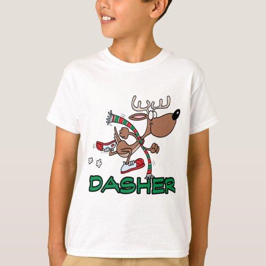 cute running reindeer DASHER cartoon T-Shirt