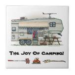 Cute RV Vintage Fifth Wheel Camper Travel Trailer
