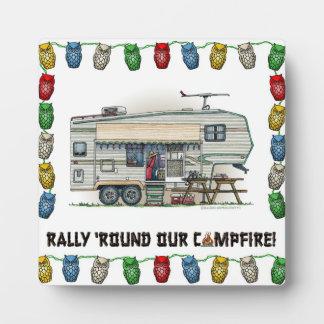 Cute RV Vintage Fifth Wheel Camper Travel Trailer Plaque