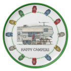 Cute RV Vintage Fifth Wheel Camper Travel Trailer Plate