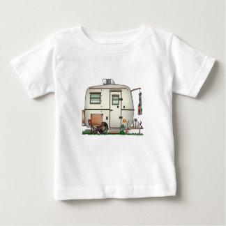 Cute RV Vintage Glass Egg Camper Travel Trailer Baby T-Shirt