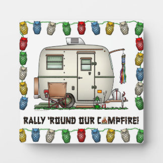Cute RV Vintage Glass Egg Camper Travel Trailer Plaque