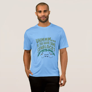 Cute Sad Earth Wanting a Sunblock T-Shirt