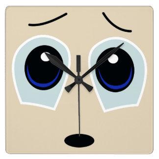Cute Sad Face Wall Clock