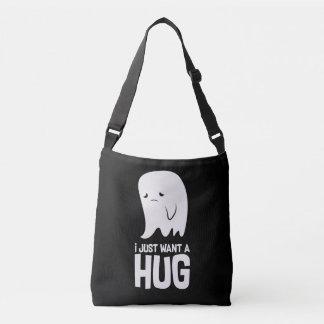 Cute Sad Ghost Just Want a Hug Crossbody Bag