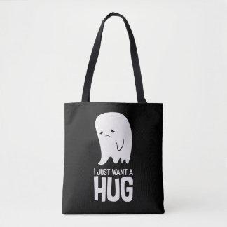 Cute Sad Ghost Just Want a Hug Tote Bag