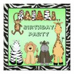 Cute Safari Animals Birthday Party
