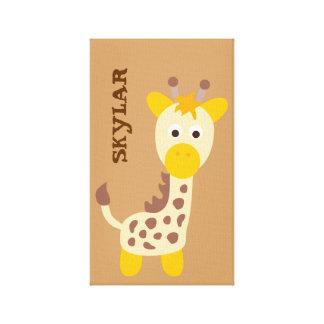 Cute Safari Animals Canvas Print