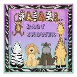 Cute Safari Animals Neutral Baby Shower