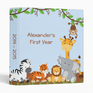 Cute Safari Jungle Animal Baby Boy Photo Album Vinyl Binders