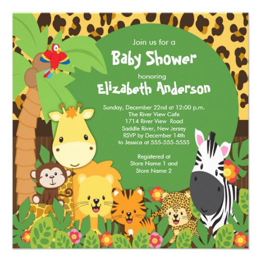 start your jungle themed baby shower off right with our adorable baby ...