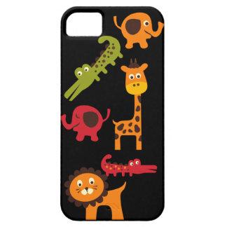 Cute Safari Jungle Zoo Animals Print Gifts iPhone 5 Cases