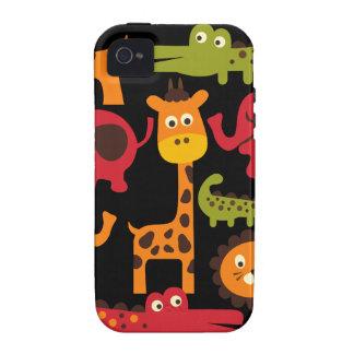 Cute Safari Jungle Zoo Animals Print Gifts iPhone 4/4S Cases