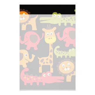 Cute Safari Jungle Zoo Animals Print Gifts Stationery