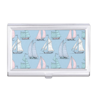 Cute Sailboat Pattern 1 Business Card Cases