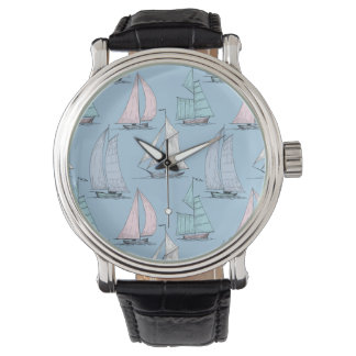 Cute Sailboat Pattern 1 Watches