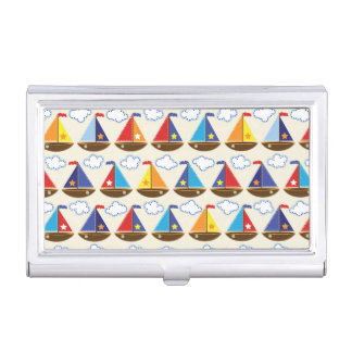 Cute Sailboat Pattern 2 Business Card Cases