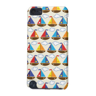 Cute Sailboat Pattern 2 iPod Touch (5th Generation) Cases