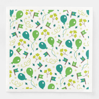Cute Saint Patrick's Day Balloons and Flags Paper Dinner Napkin
