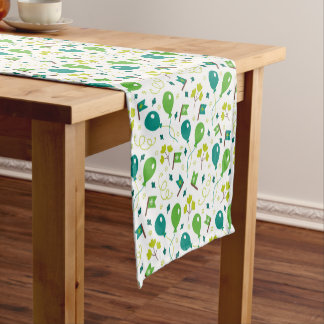Cute Saint Patrick's Day Balloons and Flags Short Table Runner