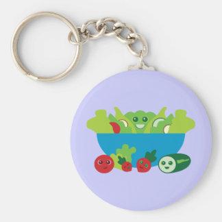 Cute Salad Basic Round Button Keychain