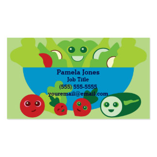 Cute Salad Business Card