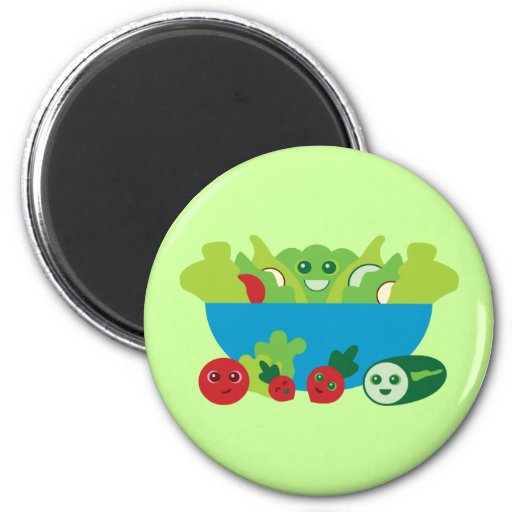 Cute Salad Fridge Magnet