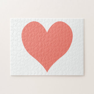 Cute Salmon Heart Jigsaw Puzzle