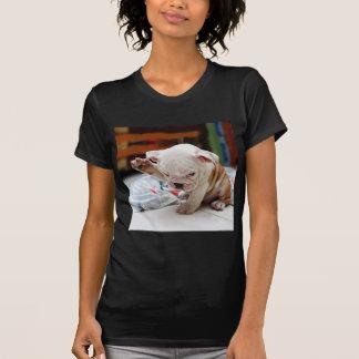 Cute Salute English Bulldog Puppy T-Shirt