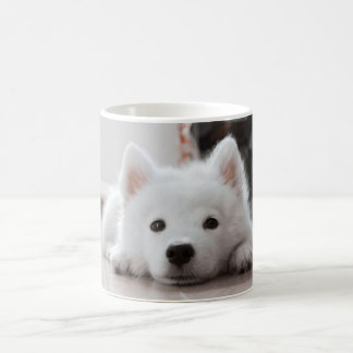 Cute samoyed puppy coffee mug