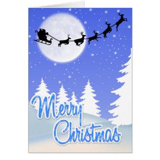 Cute SANTA  and Reindeer CHRISTMAS Card