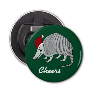 Cute Santa Armadillo Bottle Opener