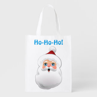 Cute Santa Claus Cartoon Grocery Bag