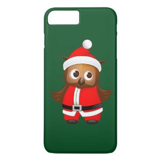 Cute Santa Claus Cartoon Owl - Christmas Gift iPhone 7 Plus Case
