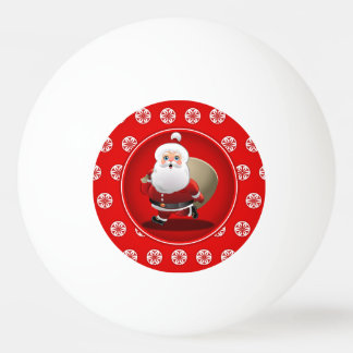 Cute Santa Claus Cartoon Ping Pong Ball