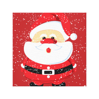 Cute Santa Claus Christmas custom Gallery Wrapped Canvas