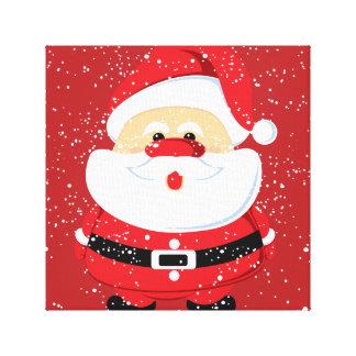 Cute Santa Claus Christmas custom Canvas Print