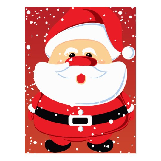 Cute Santa Claus Christmas custom Postcard