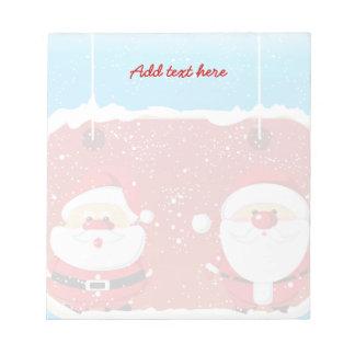 Cute Santa Claus Christmas design Notepad