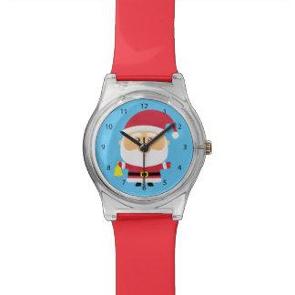 Cute Santa Claus Christmas For Kids Wristwatches