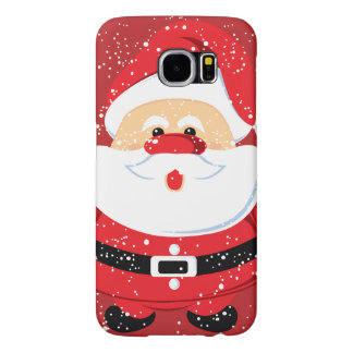 Cute Santa Claus Christmas holiday Samsung Galaxy S6 Cases