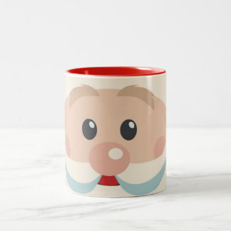 Cute Santa Claus Face with Big Nose Coffee Mug